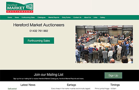 Website design & photography for Hereford Market