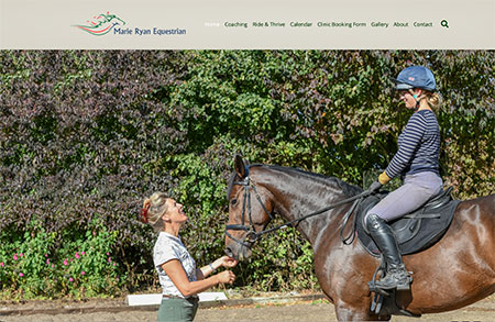 Website design & photography for Marie Ryan Equestrian